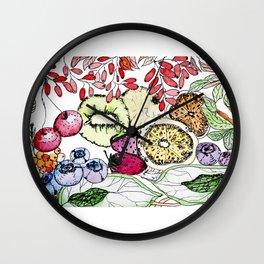 Fruit Harvest Wall Clock