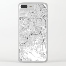 San Francisco White Map Clear iPhone Case