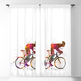 cyclist road bicycle Blackout Curtain