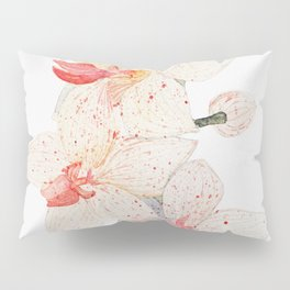 Watercolor Orchid Pillow Sham