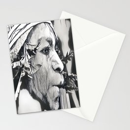 Papua Flute Player III Stationery Cards