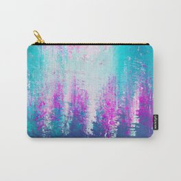 Abstract cyan and pink Carry-All Pouch