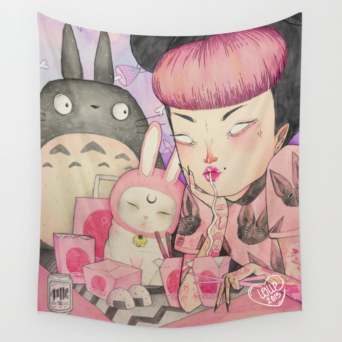 Noodle Eater Wall Tapestry