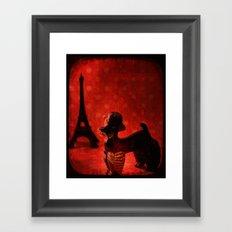 A Poodle in Paris Framed Art Print
