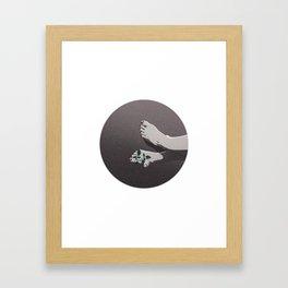 Sensitivity Broken Framed Art Print