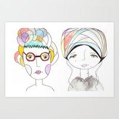 Colorful women Art Print