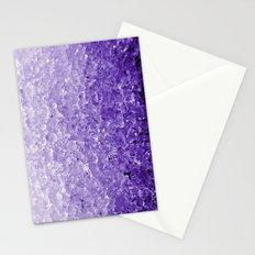 Purple ice Stationery Cards