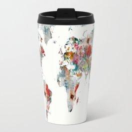 world map abstract  Travel Mug