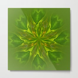 Color Meditation - Green Metal Print