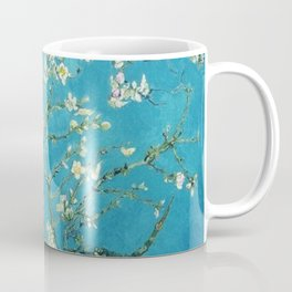 Vincent van Gogh Blossoming Almond Tree (Almond Blossoms) Light Blue Coffee Mug
