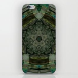 The Green Unsharp Mandala 1 iPhone Skin