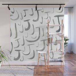 Watercolor J's - Grey Gray Wall Mural