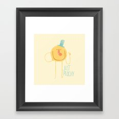 Just Peachy Framed Art Print
