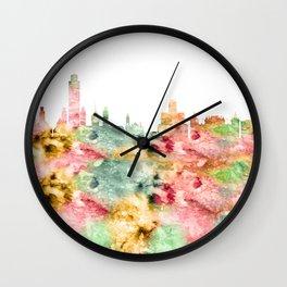 Albany City Skyline Wall Clock