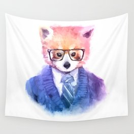 Cute fashion hipster animals pets red panda Wall Tapestry