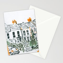 Across the road #3 Stationery Cards