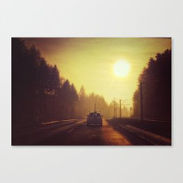 Chase The Sun Canvas Print