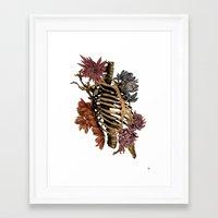 bones Framed Art Prints featuring Bones by Zé Pereira Illustration