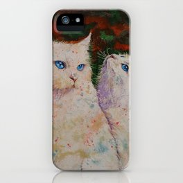 White Cats iPhone Case