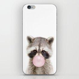 Bubble Gum Raccoon iPhone Skin