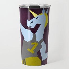 Javelin Throw Unicorn Travel Mug