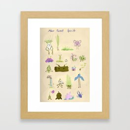 Minor Forest Spirits Framed Art Print
