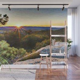Sage Mountain Sunset Wall Mural