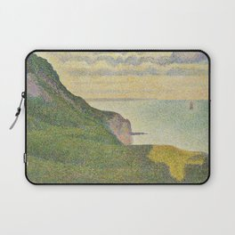 Georges Seurat Seascape at Port-en-Bessin, Normandy 1888 Painting Laptop Sleeve
