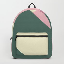 Green & purple geometric  Backpack
