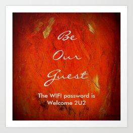 Guest Room WIFI Password Art Print