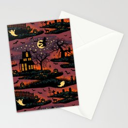 Halloween Night - Bonfire Glow Stationery Cards
