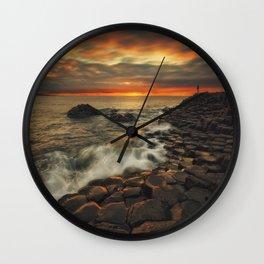 Basaltic Sunset Wall Clock