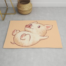 Cute Pig Relax Rug