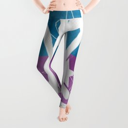 jandals in blue and purple Leggings