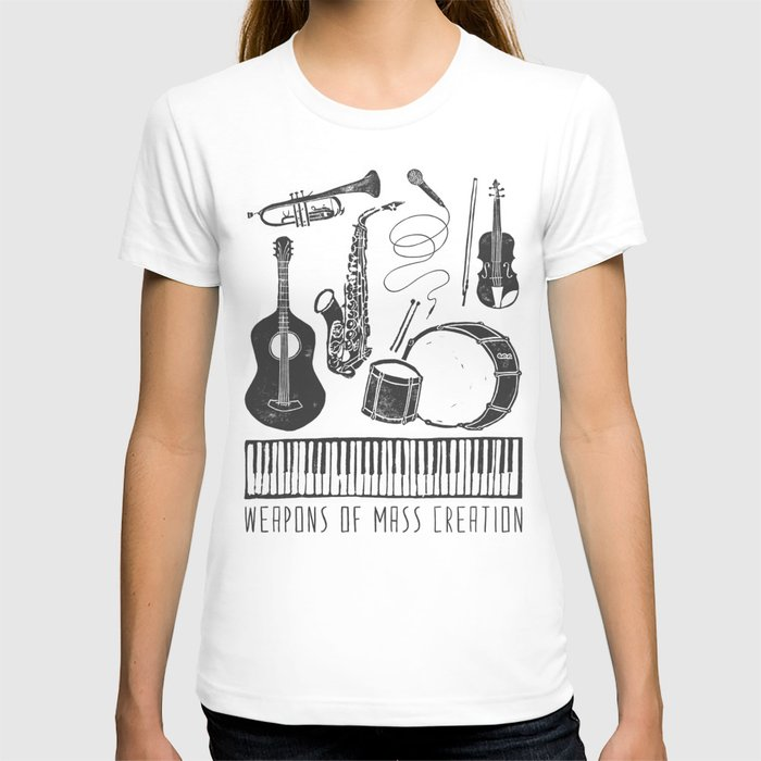 Weapons Of Mass Creation - Music (on paper) T-shirt
