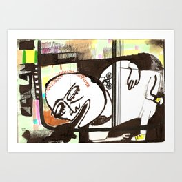 drinking too much alcohol Art Print