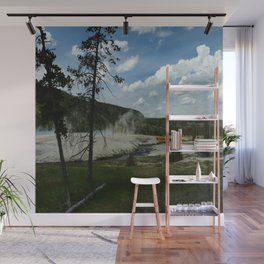 Firehole River And Geyser Area Wall Mural