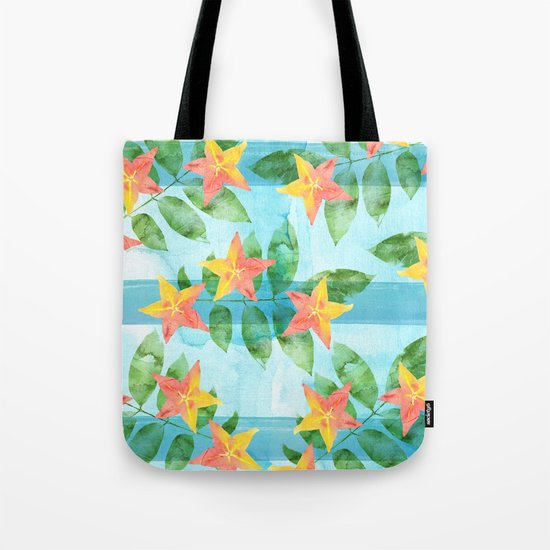 Exotic Star Fruit Pattern Tote Bag