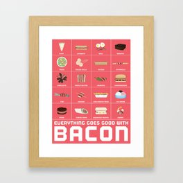 Bacon Poster Framed Art Print