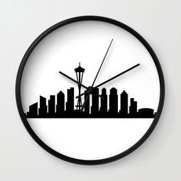 Seattle skyline Wall Clock