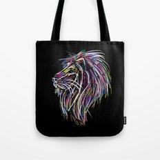 Neon Glow Lion (He)art Tote Bag