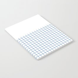 Dotted Grid Boarder Blue on White Notebook