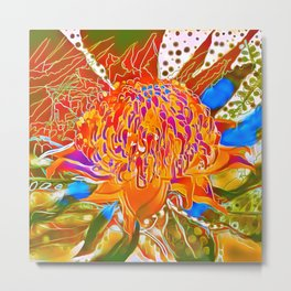 Waratah Australian Bush Flower Metal Print