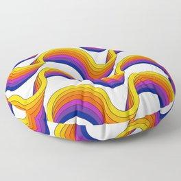 Rainbow Ribbons Floor Pillow