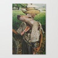 werewolf Canvas Prints featuring Werewolf by A.T. Velazco