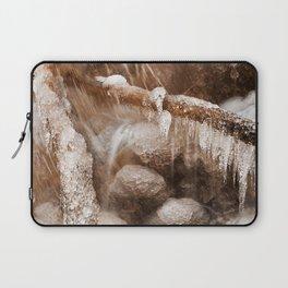 Frozen Harp Falls - Sepia Nostalgia Laptop Sleeve