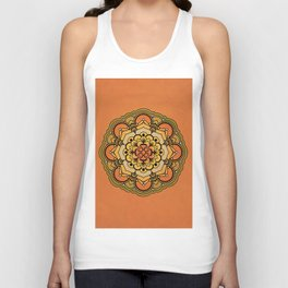 Colorful Floral Design Unisex Tank Top