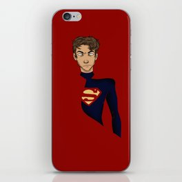 okay but this boy in a cape wow iPhone Skin