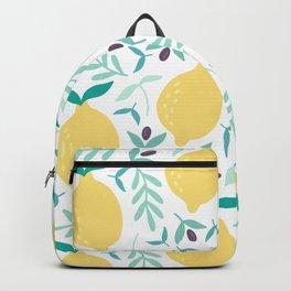 Lemon & Blueberry Pastel Backpack