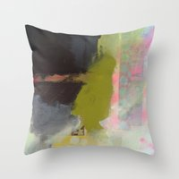 transparent Throw Pillows featuring Transparent Words by Natalie Baca